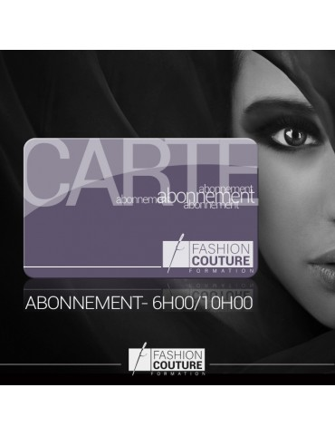 Carte Abonnement Adulte libre